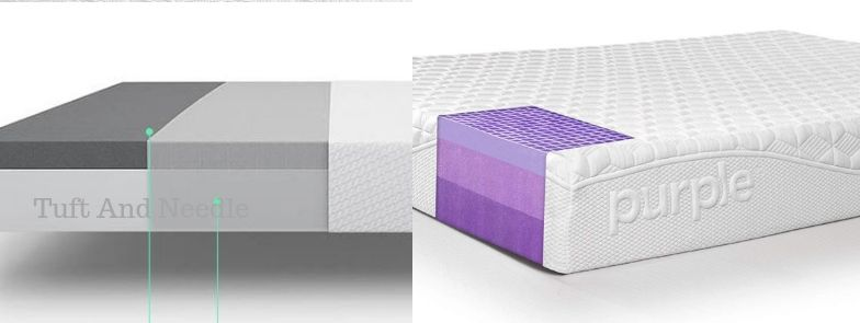 Purple Mattress vs Tuft and Needle Mattress