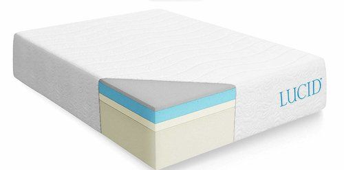 LUCID 16 Inch Plush Gel Memory Foam